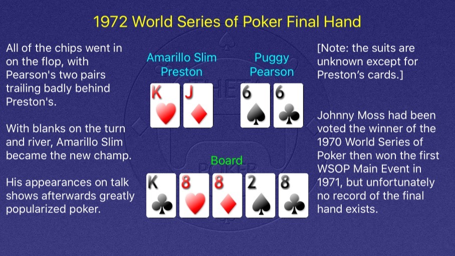 1972 WSOP Main Event Final Hand