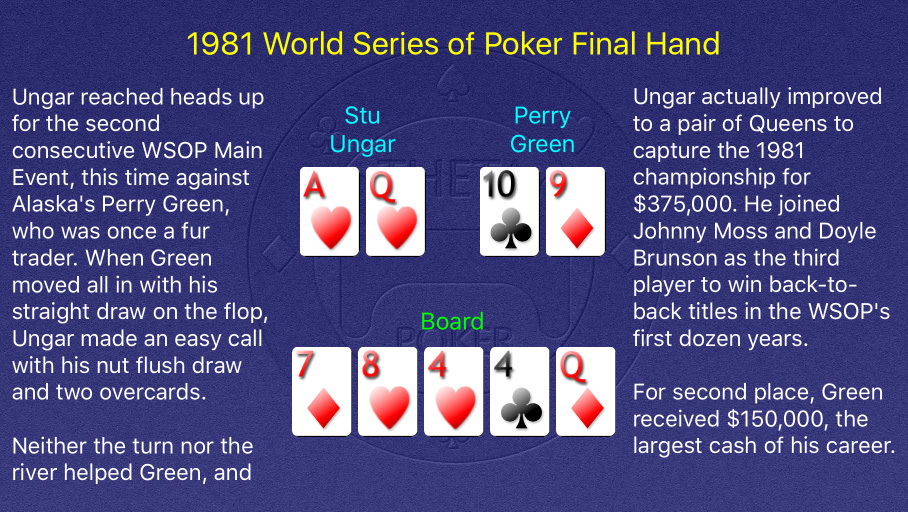 1981 WSOP Main Event Final Hand
