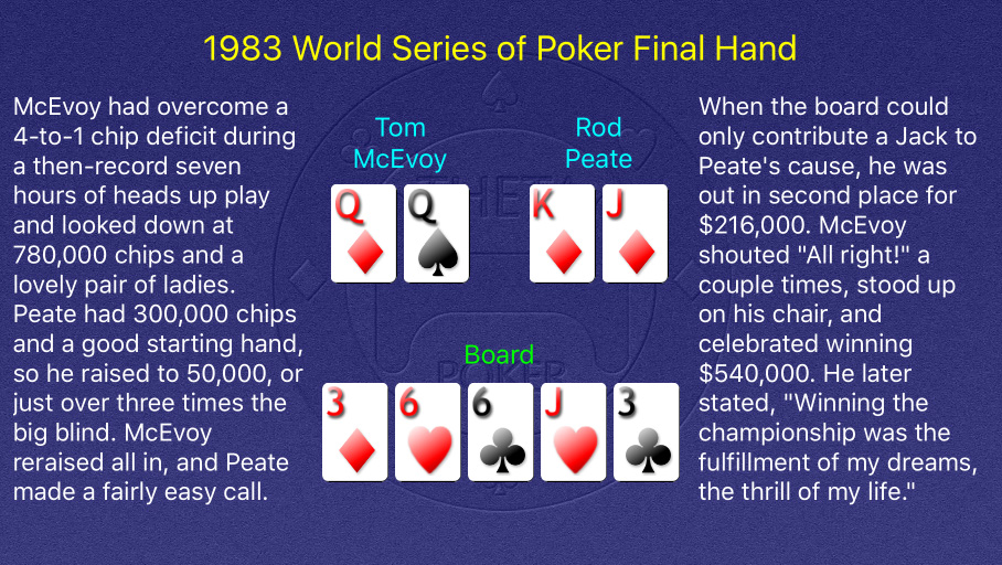 1983 WSOP Main Event Final Hand
