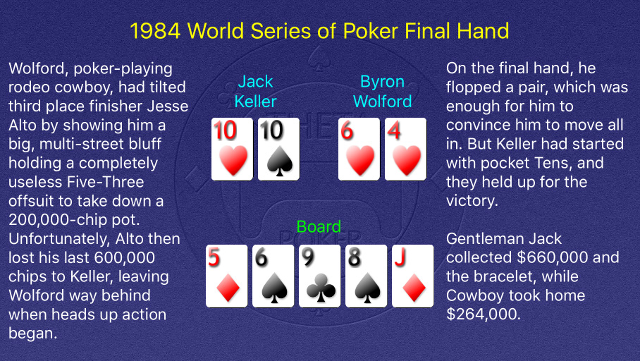 1984 WSOP Main Event Final Hand