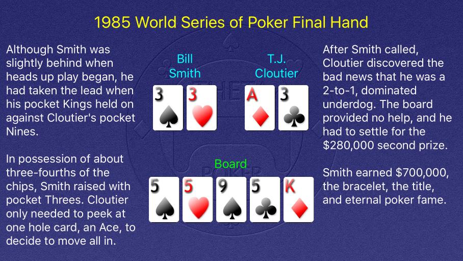 1985 WSOP Main Event Final Hand