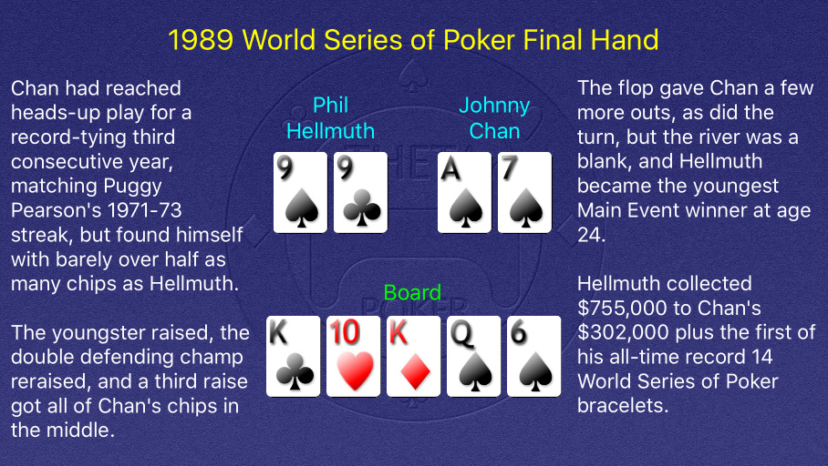 1989 WSOP Main Event Final Hand