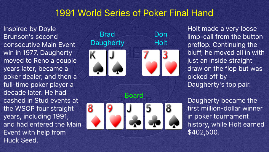 1991 WSOP Main Event Final Hand
