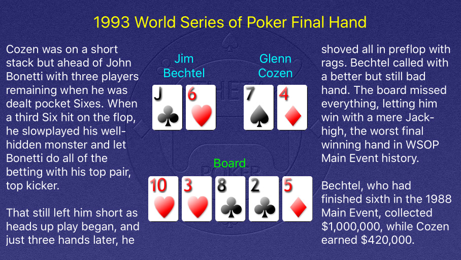 1993 WSOP Main Event Final Hand