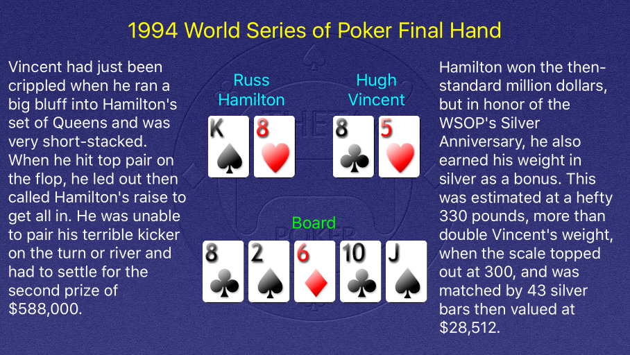 1994 WSOP Main Event Final Hand