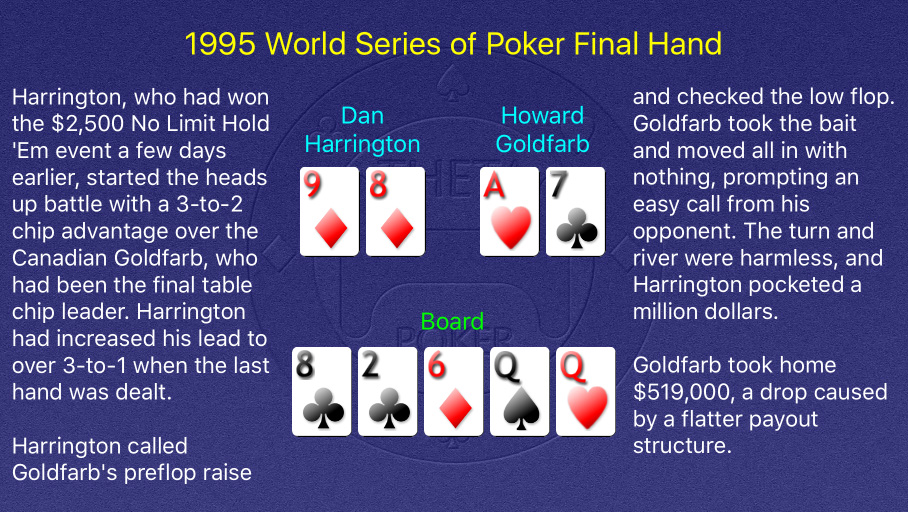 1995 WSOP Main Event Final Hand