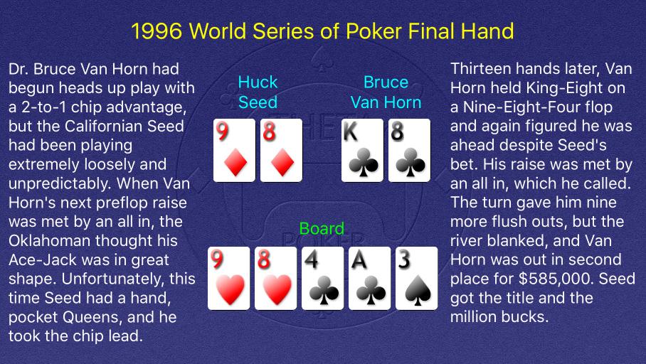1996 WSOP Main Event Final Hand