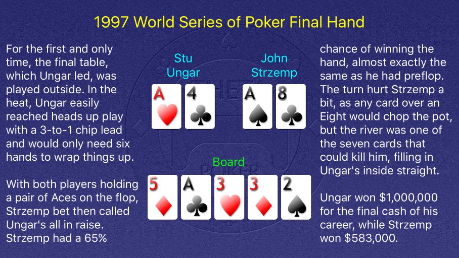 1997 WSOP Main Event Final Hand