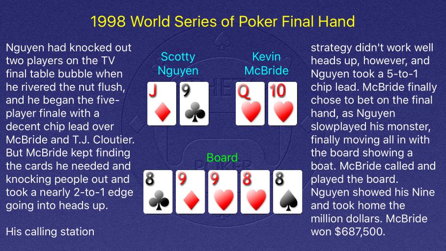 1998 WSOP Main Event Final Hand