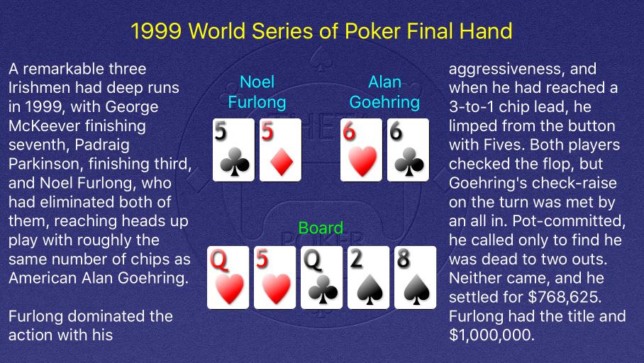 1999 WSOP Main Event Final Hand