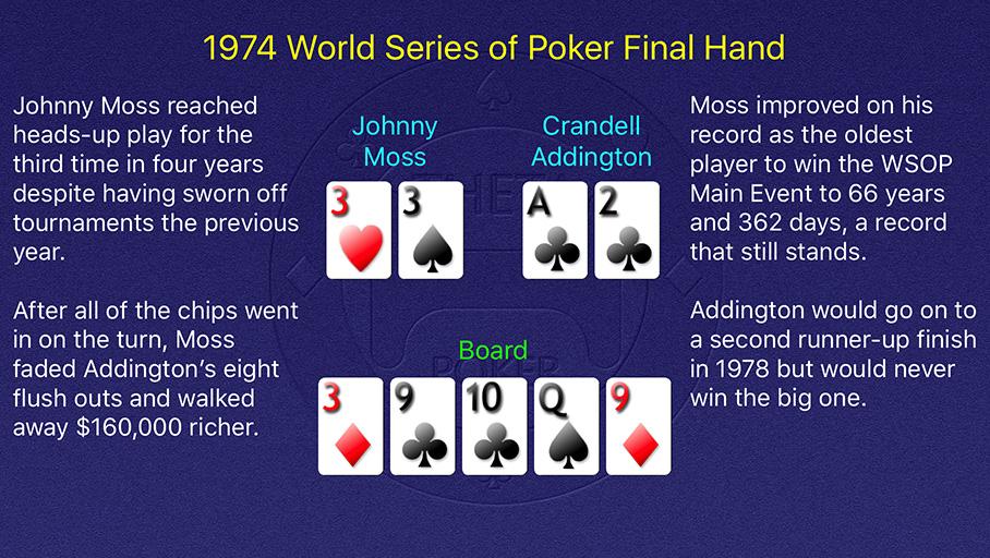 1974 WSOP Main Event Final Hand