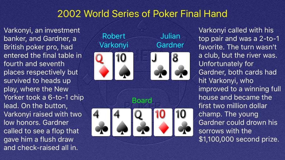 2002 WSOP Main Event Final Hand