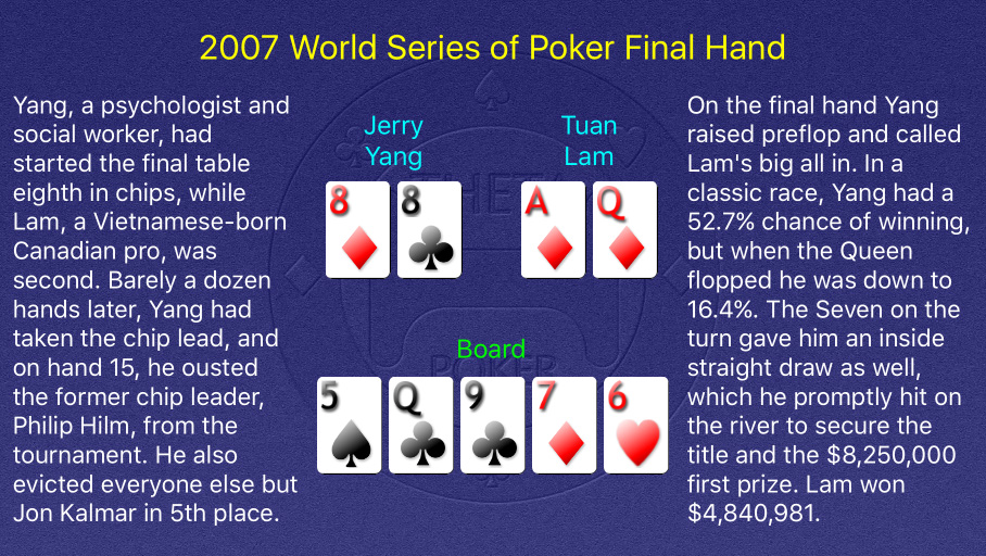 2007 WSOP Main Event Final Hand