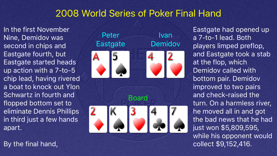 2008 WSOP Main Event Final Hand