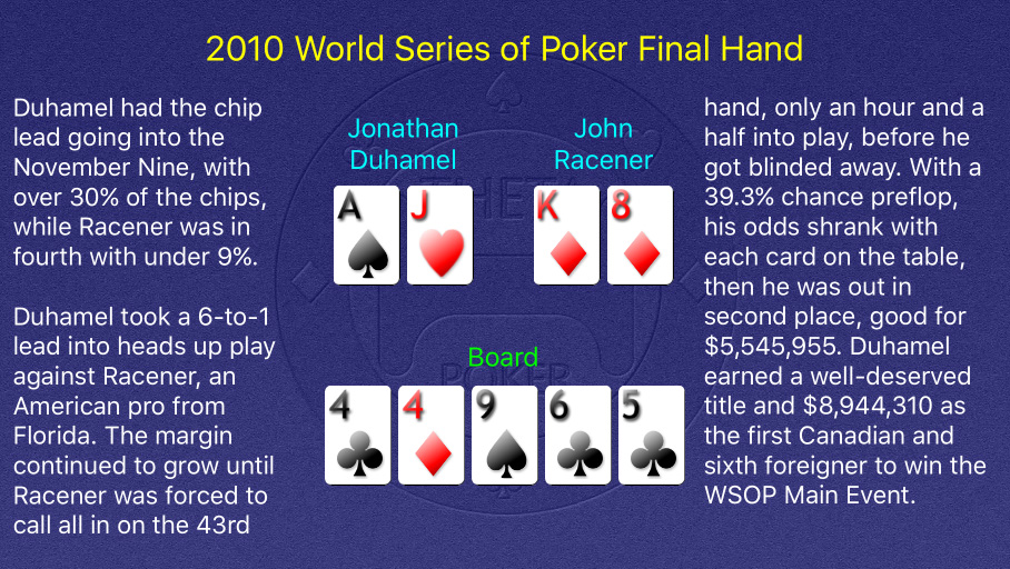2010 WSOP Main Event Final Hand