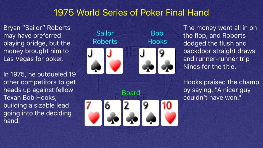 1975 WSOP Main Event Final Hand