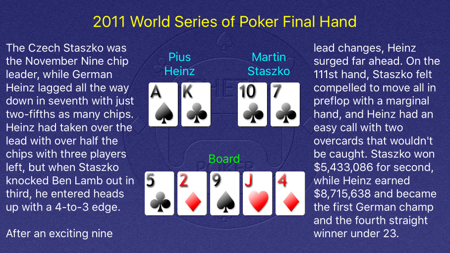2011 WSOP Main Event Final Hand