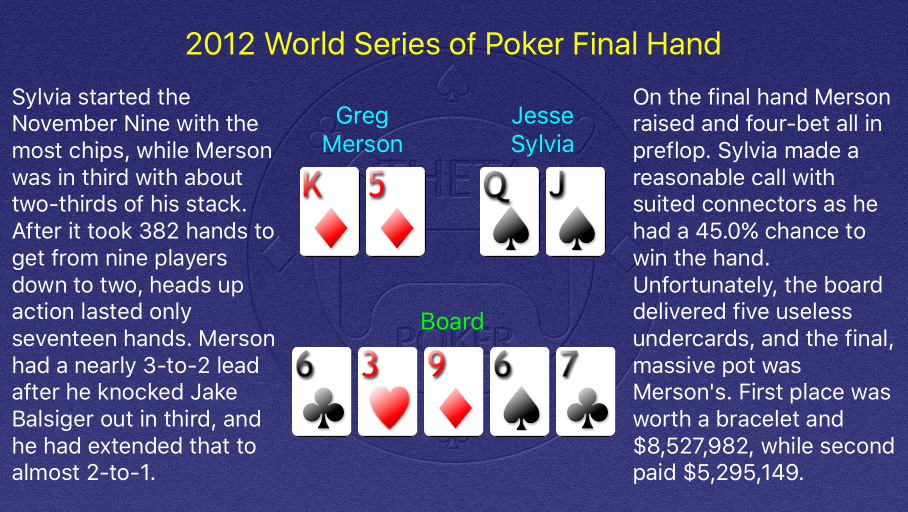 2012 WSOP Main Event Final Hand