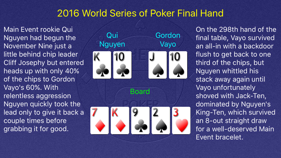2016 WSOP Main Event Final Hand