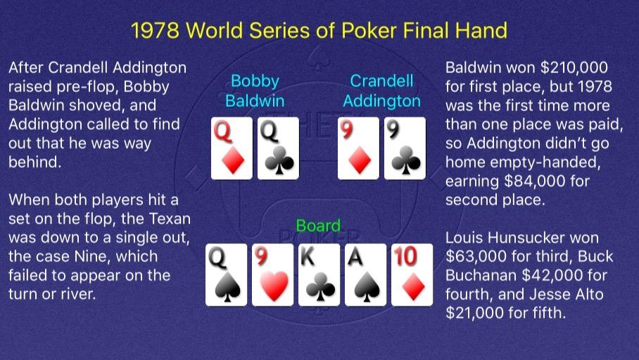 1978 WSOP Main Event Final Hand