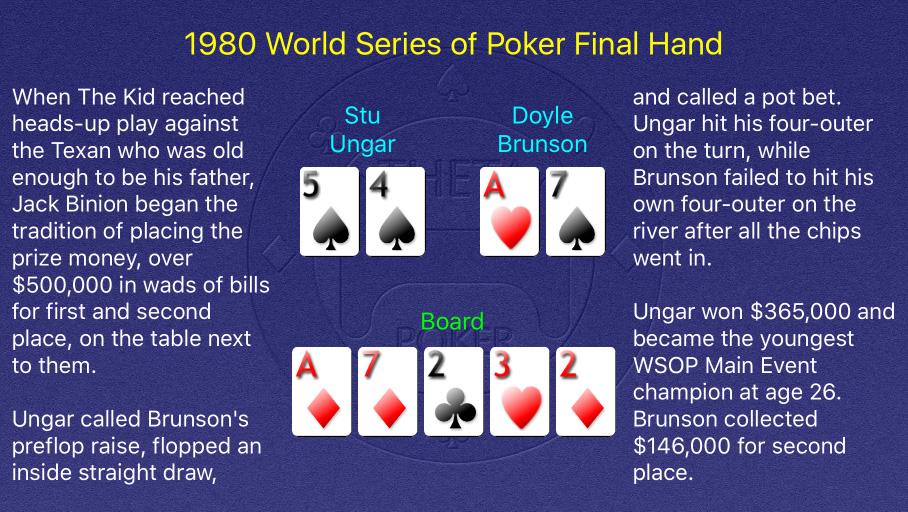 1980 WSOP Main Event Final Hand
